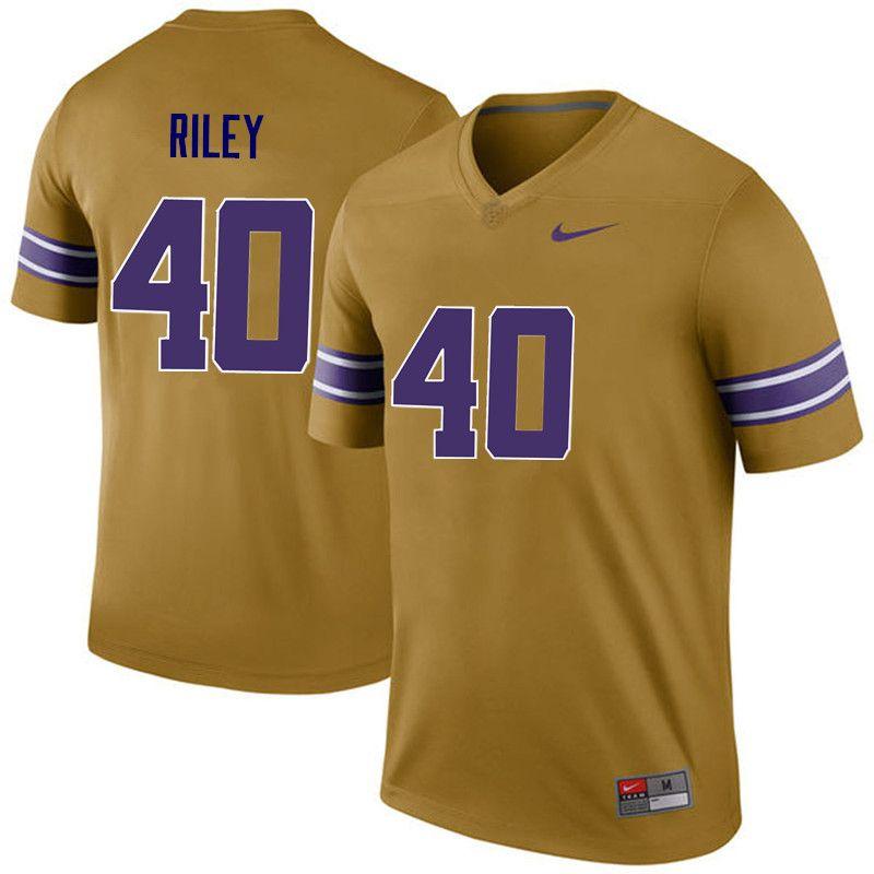 pretty nice 88249 c8411 Men LSU Tigers #40 Duke Riley College Football Jerseys Game ...