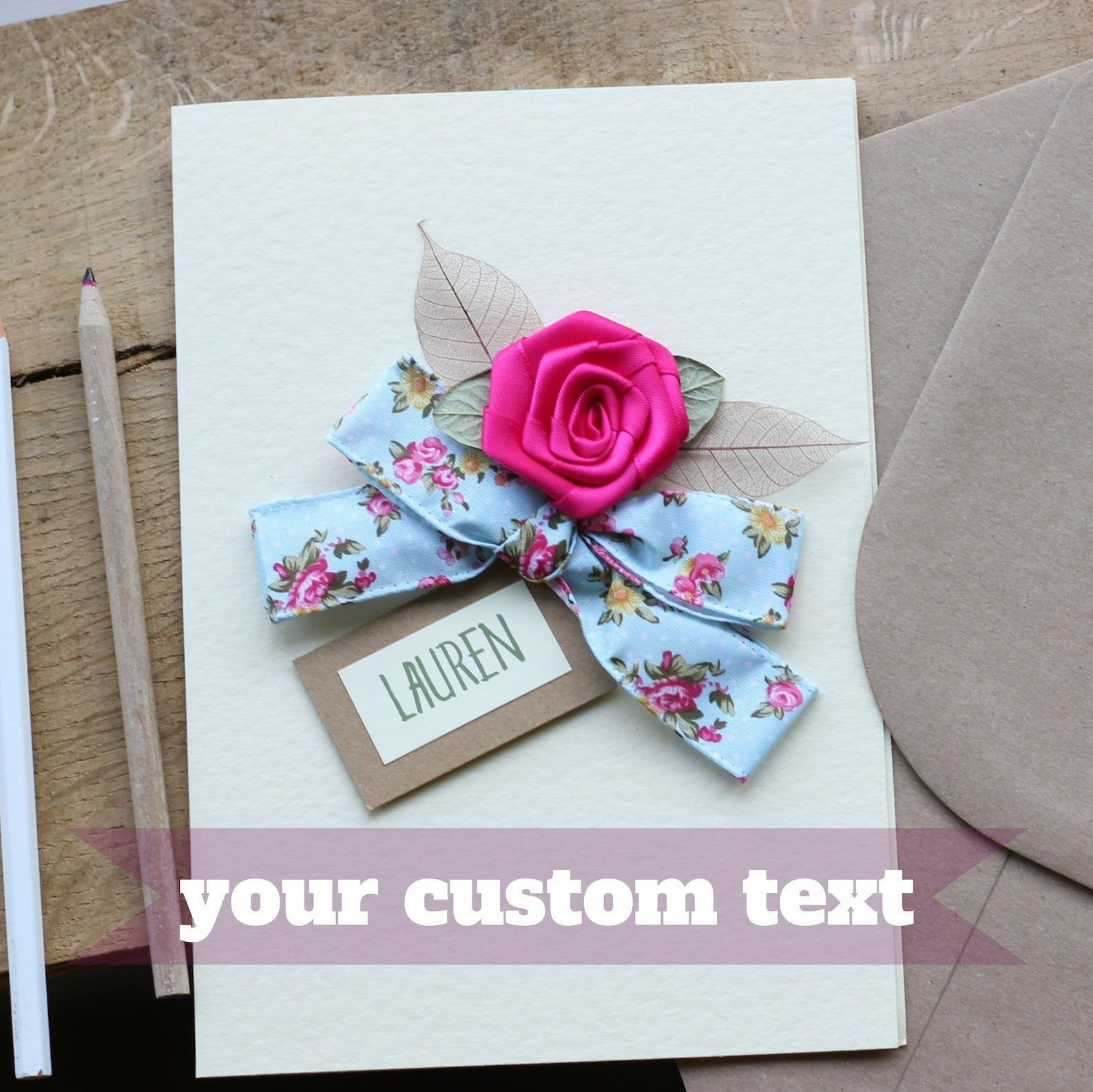 Handmade Personalised Birthday Card Daughter Granddaughter Sister 18~Any Age