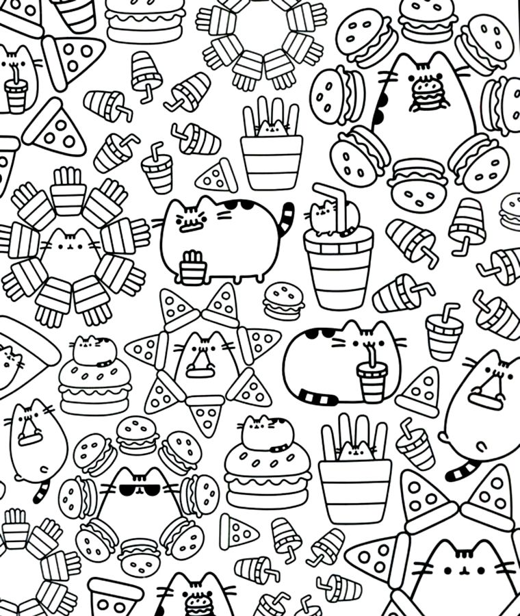 Pusheen   Pusheen coloring pages, Cute coloring pages ...