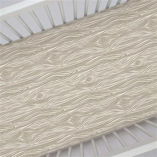Crib Ed Sheet In And Taupe Woodgrain By Carousel Designs Our Sheets Feature Deep Pockets Have Elastic All The Way Around Edges To