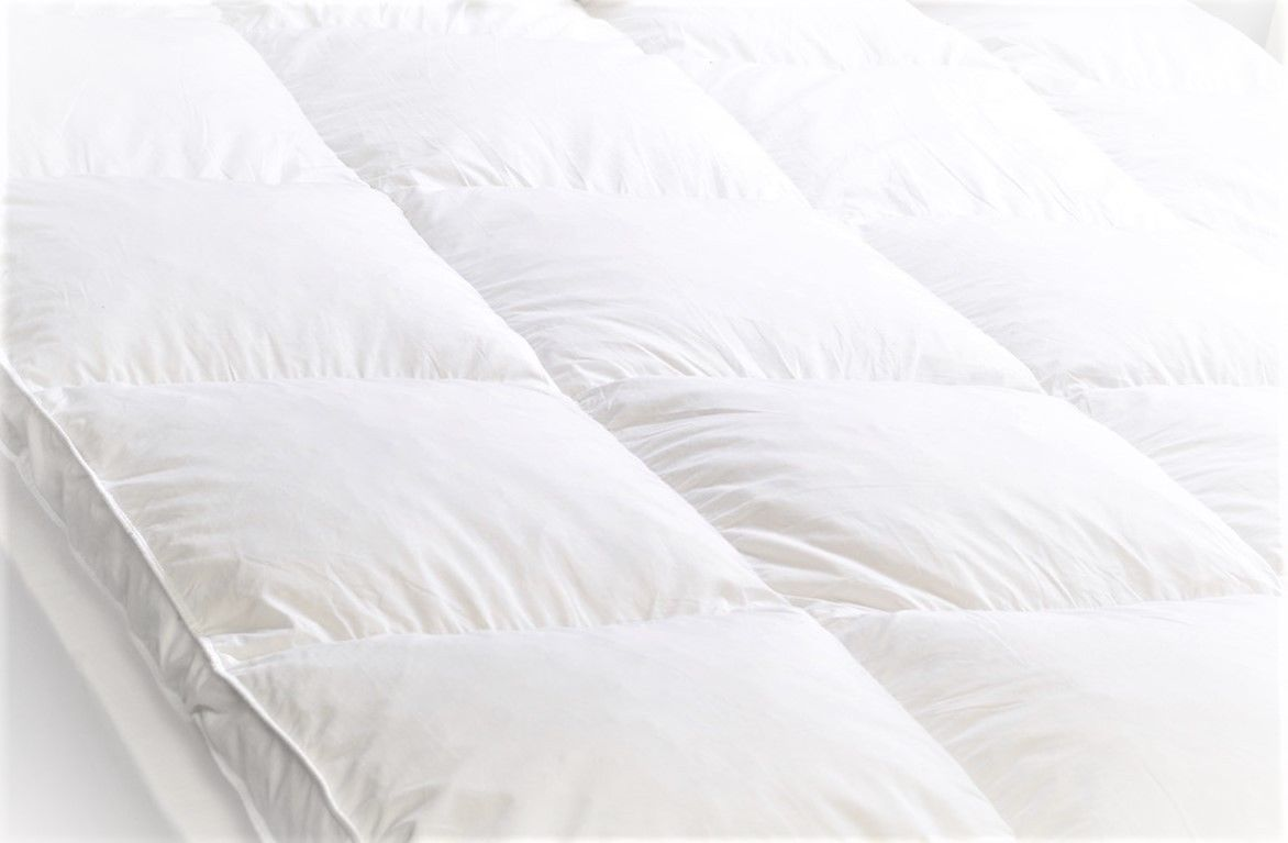 mattress topper protector duck feather down linens range