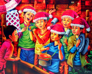 Making Christmas Tamborines Filipino Culture by The