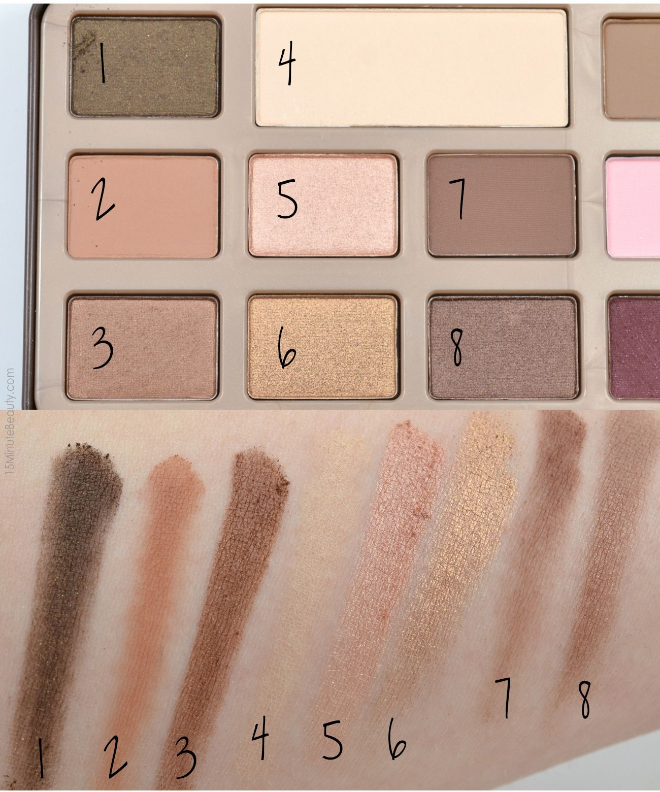Too Faced Chocolate Bar Palette Review and Swatches | Chocolate ...