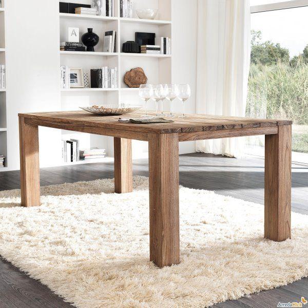 tavolo legno grezzo massello | cucina | pinterest | teak e tag - Tavolo Cucina Legno Massello