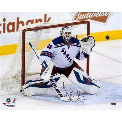 f0d11394dc4 Henrik Lundqvist New York Rangers Autographed 16   x 20   Making Save  Photograph