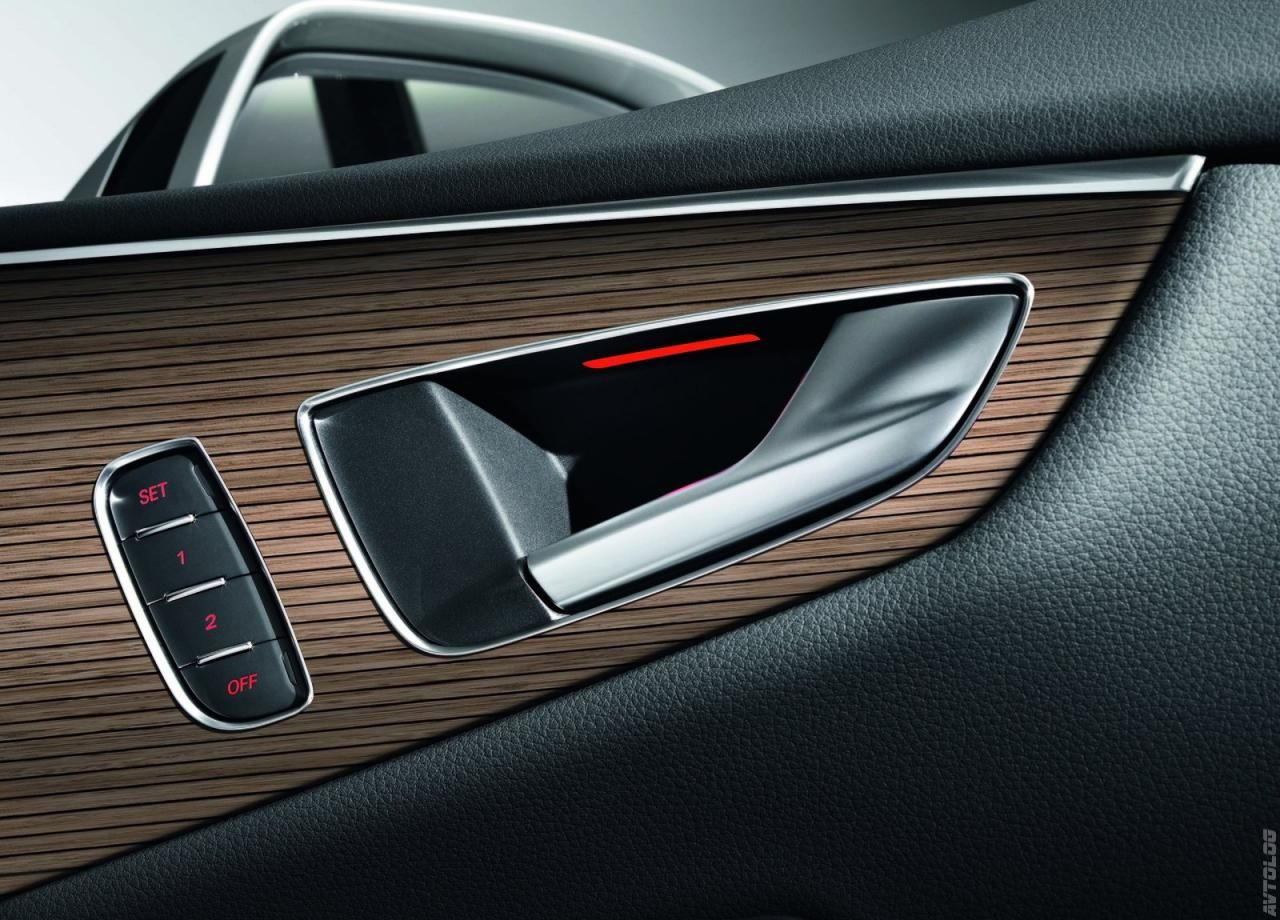 2011 Audi A7 Sportback door handle black wood brown metallic grey ...