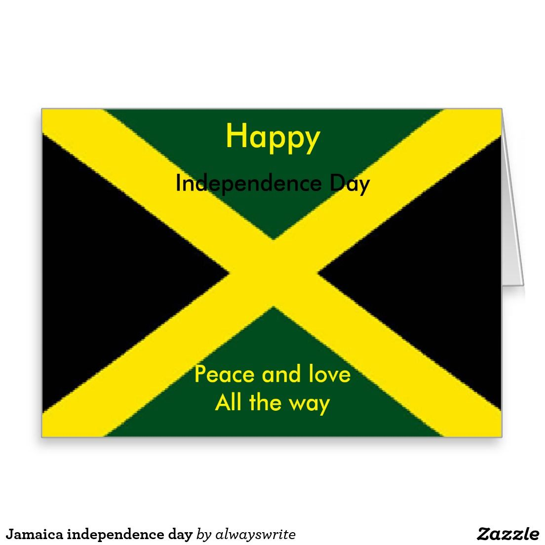 Jamaica Independence Day Card Pinterest Jamaica Independence