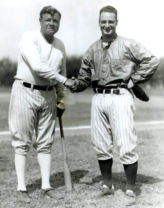 Babe Ruth And Lou Gehrig 1928 I Have To Love This Even Though I M Not A Yankees Fan Babe Ruth Yankees Baseball Lou Gehrig