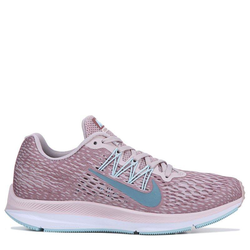 Nike Women s Zoom Winflo 5 Running Shoes (Rose   Teal)  a66da4063c11