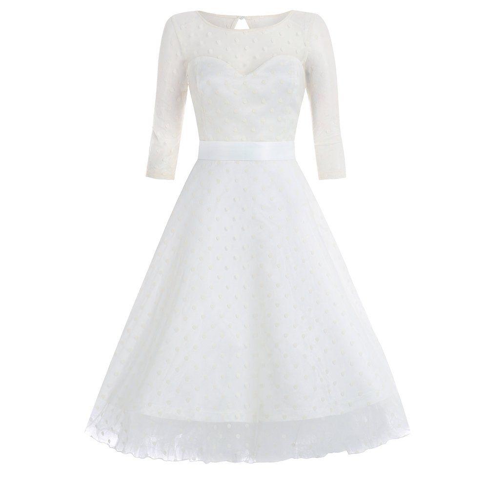 Abigail Ivory Swing Formal Dress | Fifties wedding dress | Vintage ...