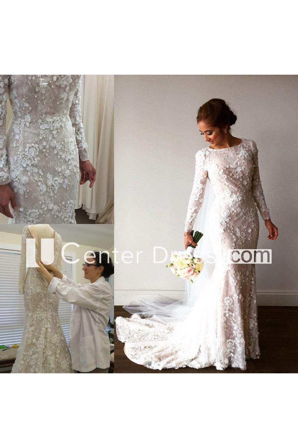 Mermaid Trumpet High Neck Lace Zipper Wedding Dress Ucenter Dress Long Sleeve Wedding Dress Lace Wedding Dresses Lace Long Sleeve Bridal Gown [ 1536 x 1024 Pixel ]