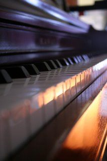 Piano keys - so peaceful to be alone with my piano and play