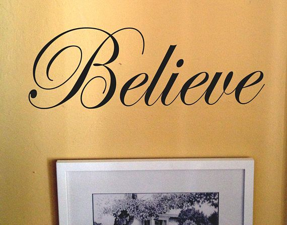 Believe word decals,Vinyl wall decals,Wall decal.wall decals,word ...