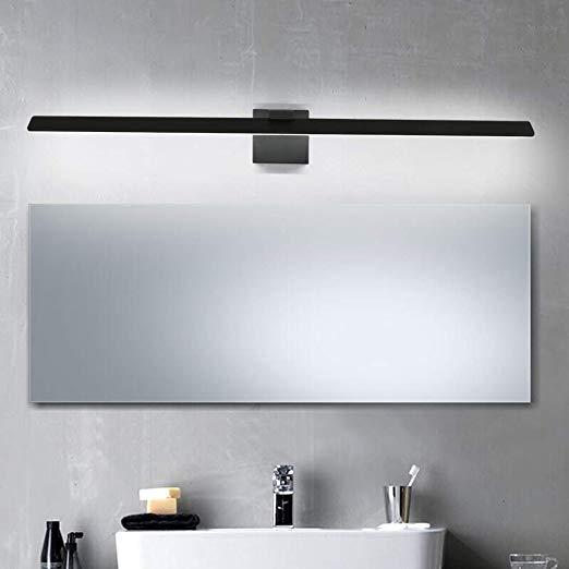 Aipsun 31 5in 24w Black Vanity Light Led Bathroom Vanity Light Fixtures Black Wall M In 2020 Light Fixtures Bathroom Vanity Black Vanity Light Bathroom Vanity Lighting