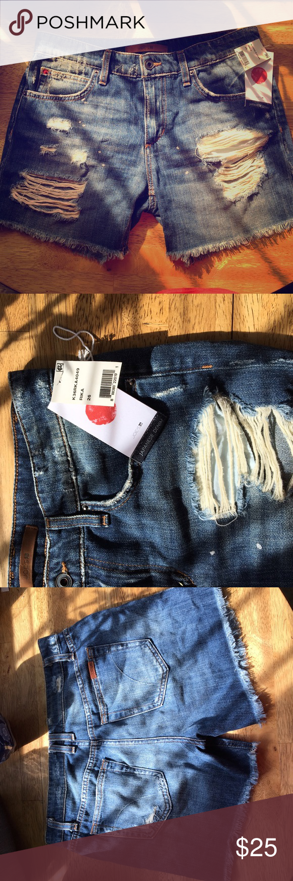 Joe's Jeans Denim Shorts Brand new Joe's Jeans Distressed Denim shorts. Fits 26-27 Joe's Jeans Shorts Jean Shorts