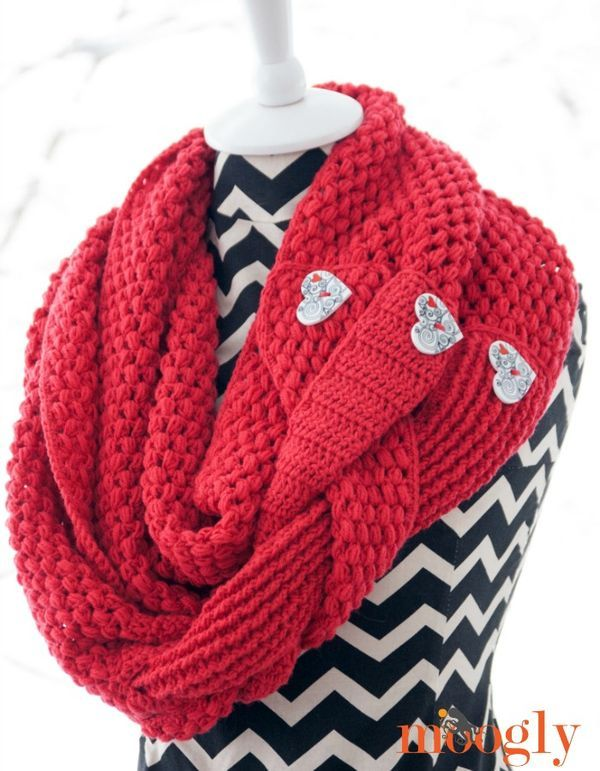 Madly In Love Infinity Scarf and Cowl - free #crochet pattern on ...
