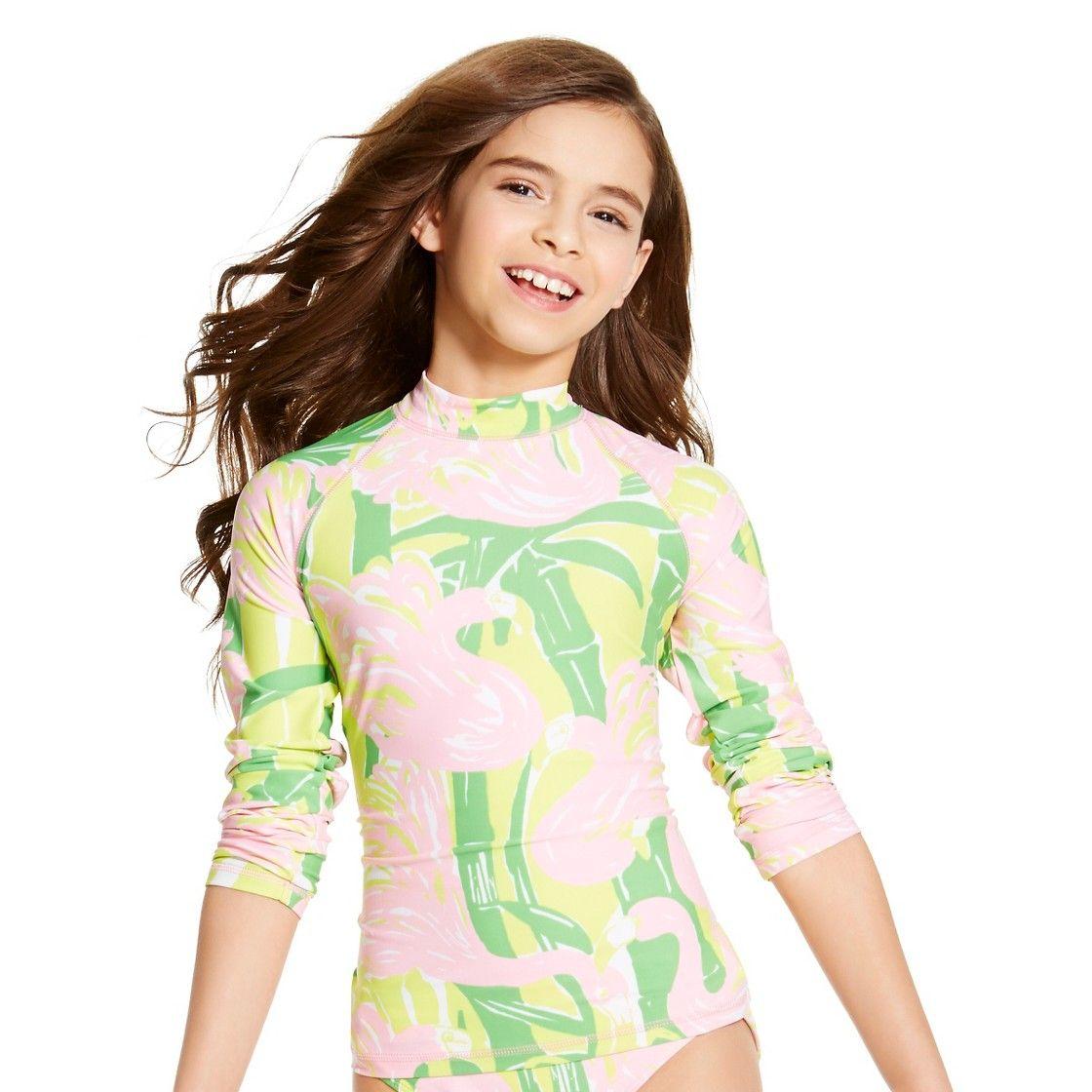 Lilly Pulitzer for Target Girls' Rashguard Fan Dance