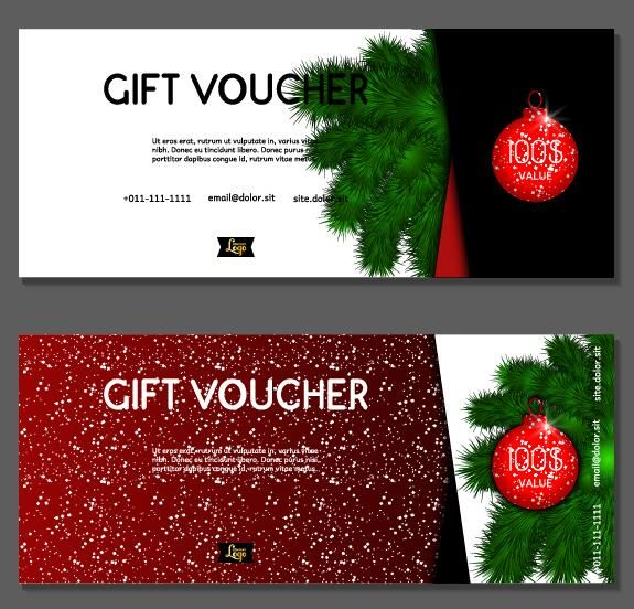 New Year gift voucher template vectors set 03 -   www - payment voucher template