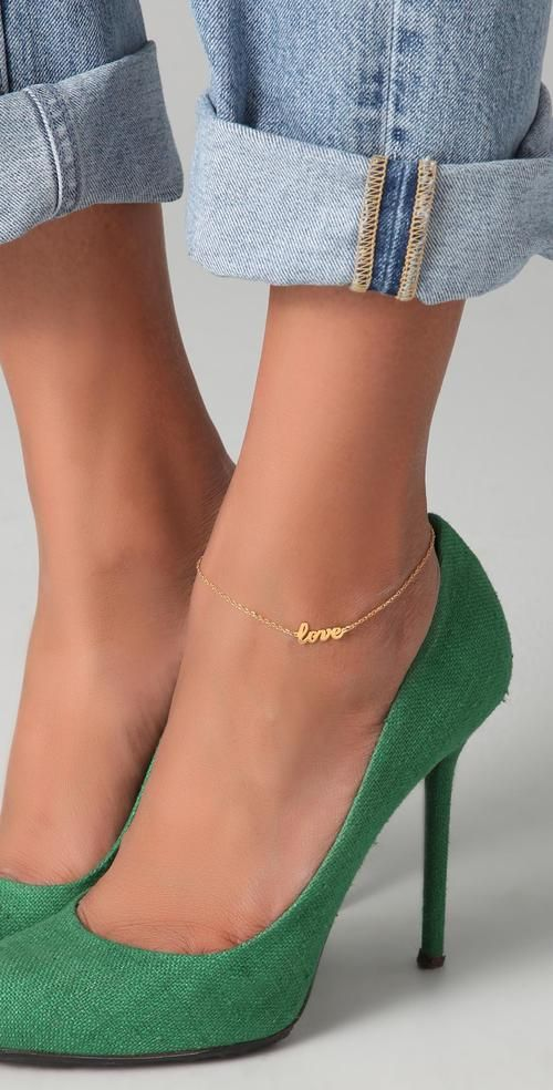48617d0ab escarpins vert | ☆Look Vert | Bijoux médiéval, Jeans et escarpins ...