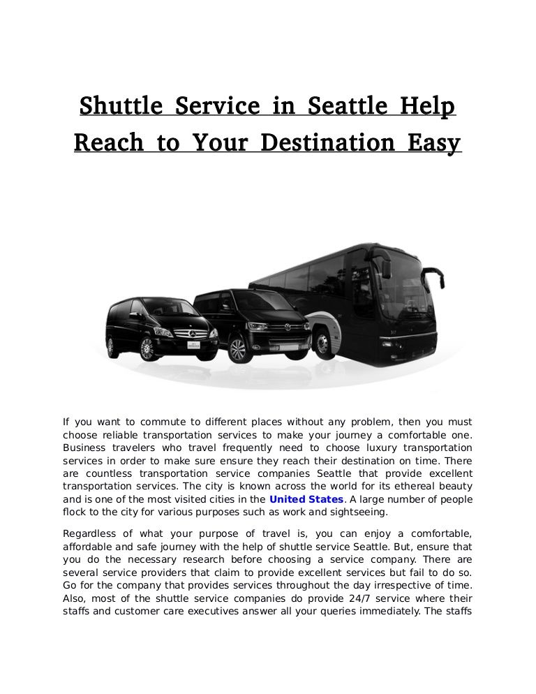 Choose The Best Airport Shuttle Service Today And Reach Your