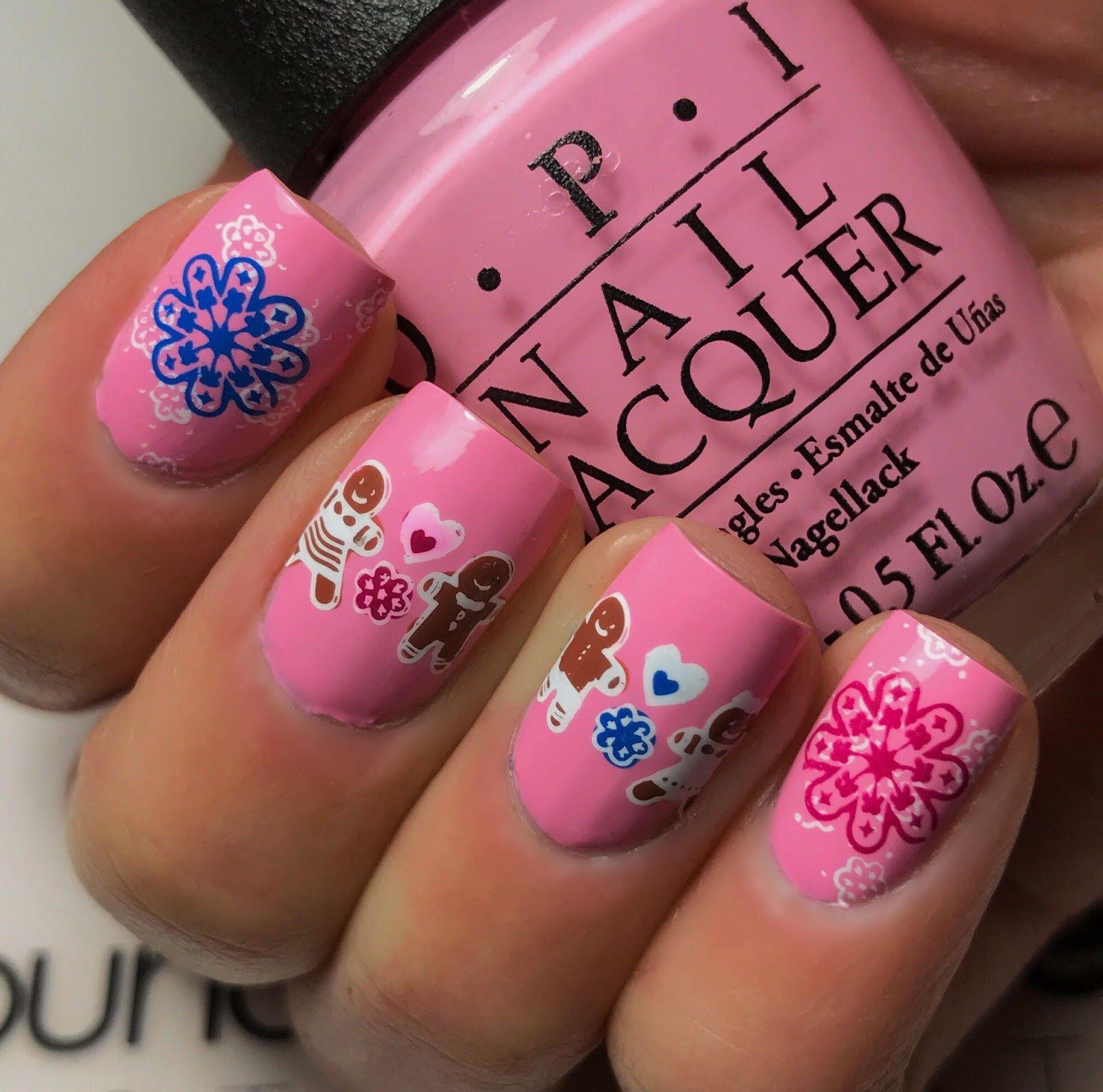 Gingerbread man and woman nail art | nails | Pinterest | Gingerbread ...