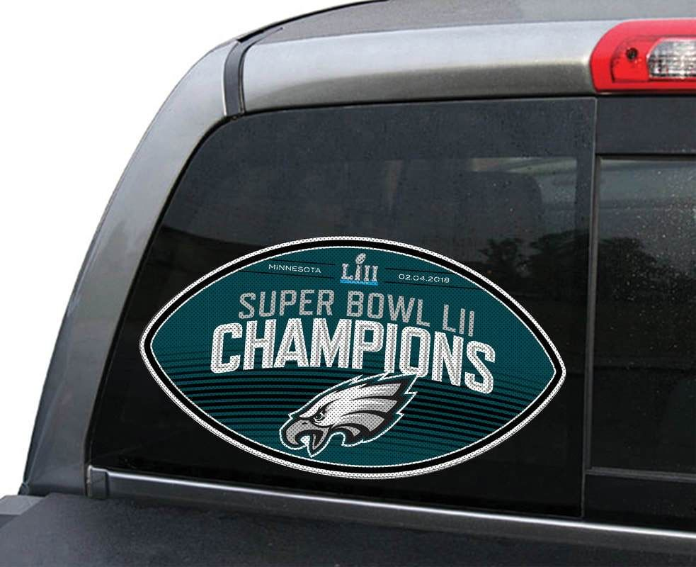 Philadelphia Eagles Window Film Large Super Bowl 52 Champs Special Order 616156030