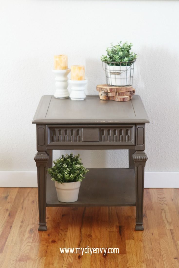 Driftwood Old Fashioned Milk Paint Side Table Makeover Home - Old fashioned side table