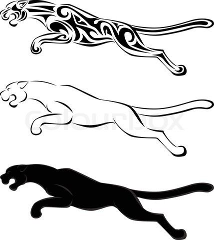 Vector of \'jaguar silhouette tattoo\'   Tattoo   Pinterest   Tatuajes ...