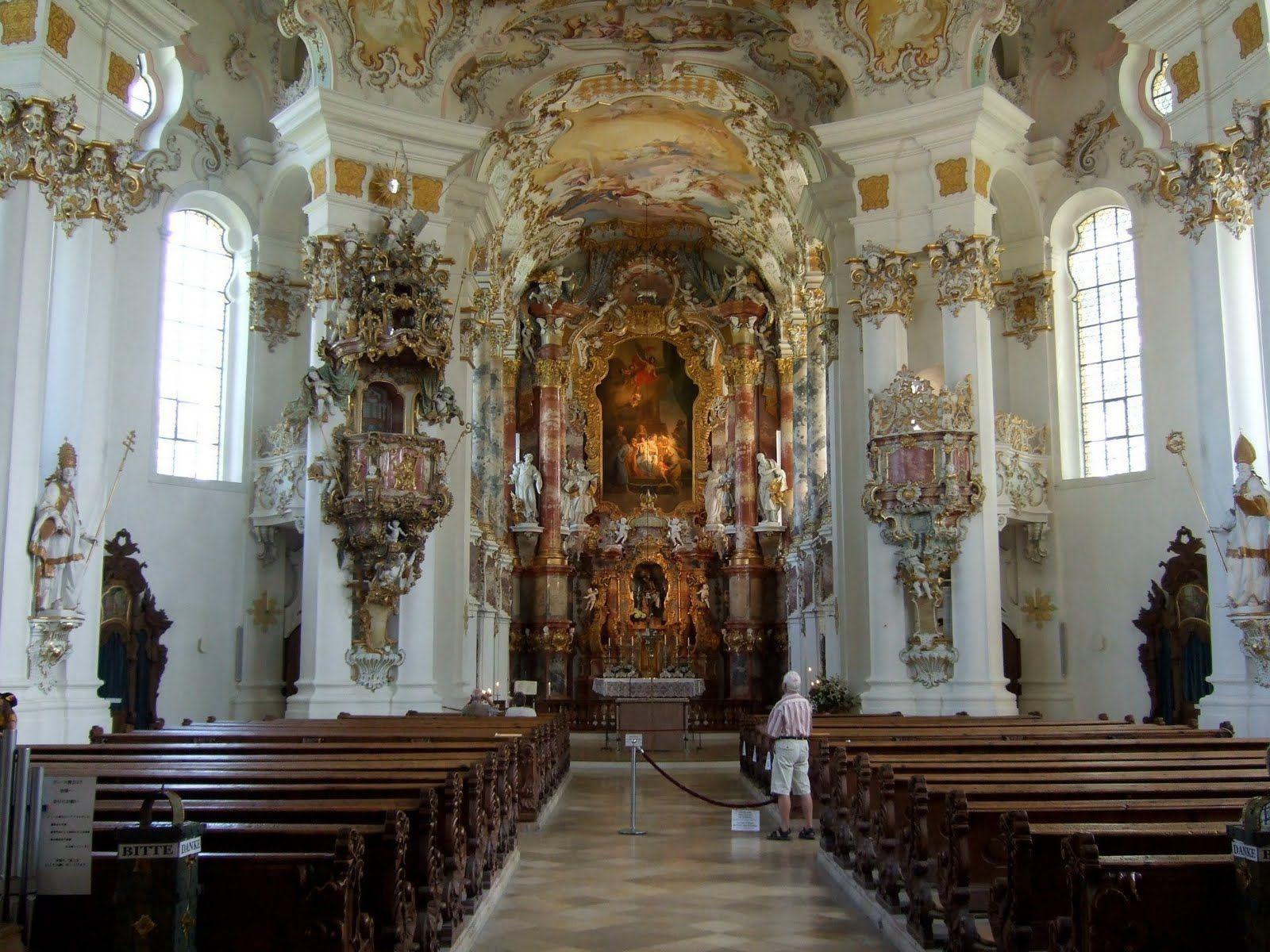 Dominikus Zimmermann- Iglesia de peregrinación de Wies. Wieskirche - 1743