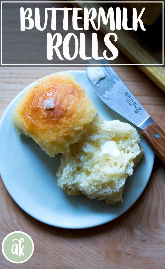 No Knead Buttermilk Pull Apart Rolls Alexandra S Kitchen Recipe Recipes Bread Food