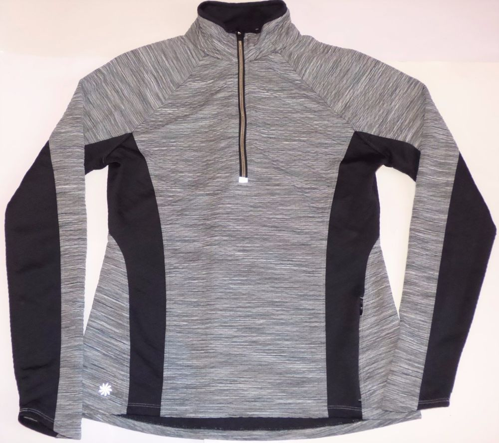 Athleta Snowscape Gray Spacedye 1/2 Zip Up Pullover Athletic ...
