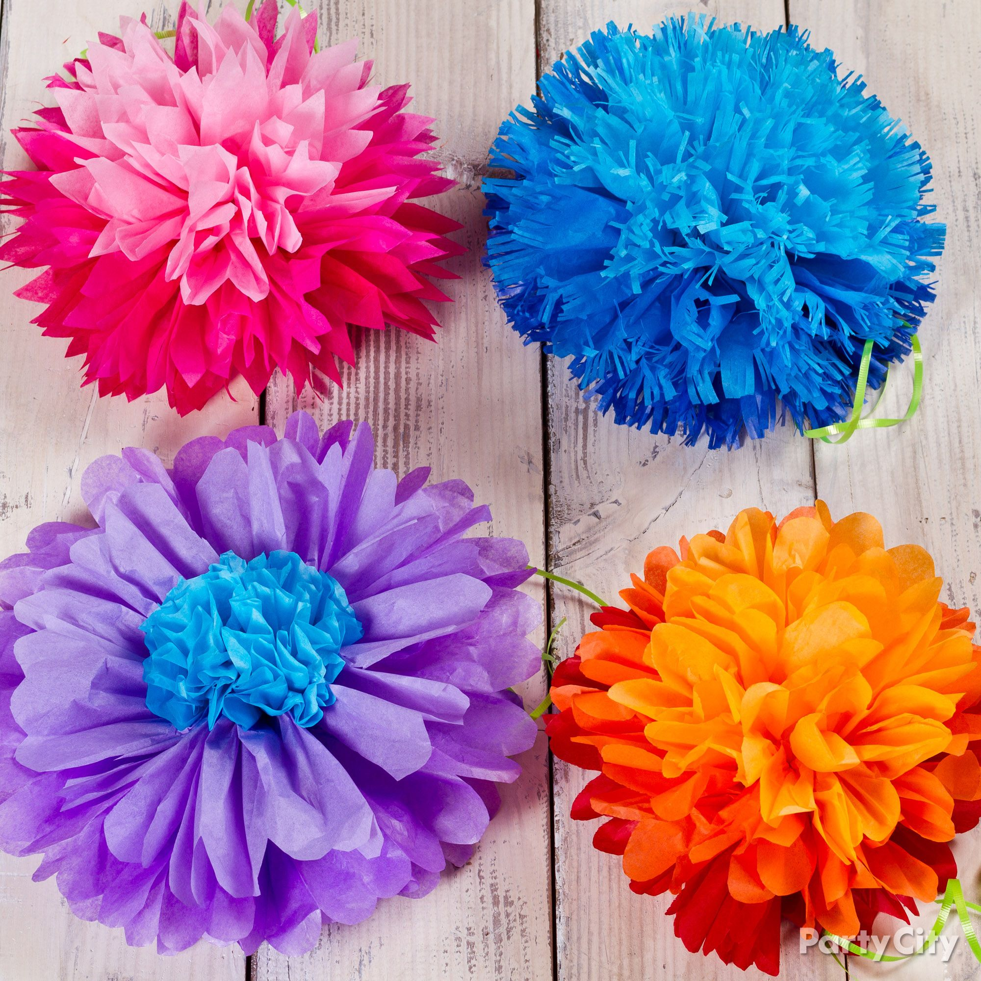 Tissue Paper Flowers How To Party City Tissue Paper Flowers