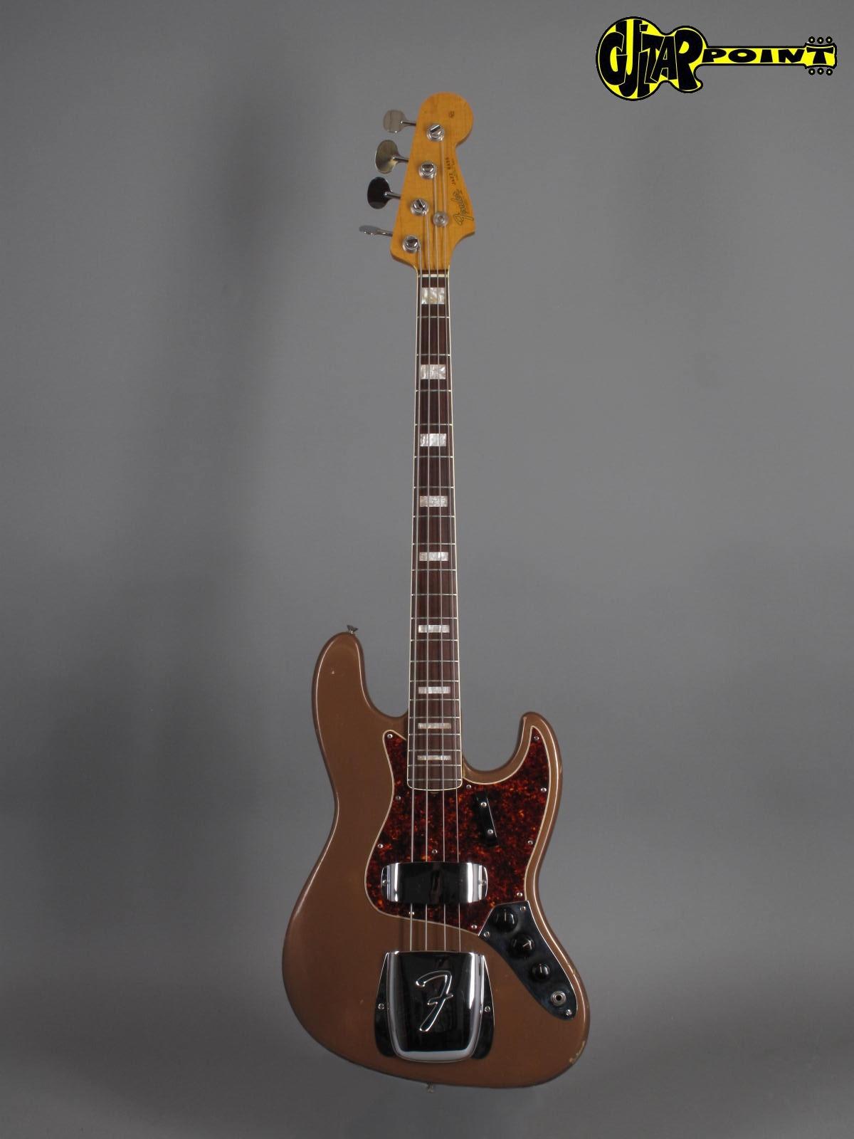 1967 Fender Jazz Bass Fire Mist Gold Refin Vi67fejazzbassgld 216555 Fender Jazz Fender Jazz Bass Vintage Bass Guitars