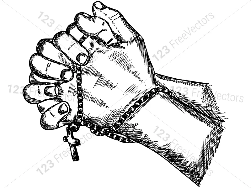 Hand Drawn Praying Hands Vector And Photoshop Brush Pack 01 How To Draw Hands Praying Hands Photoshop Brushes
