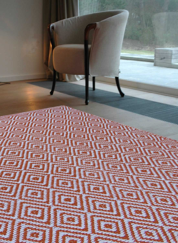 Tapis Tisse Main Scandinavia Orange Tapis Salon Tapis Deco Et Tapis Moderne