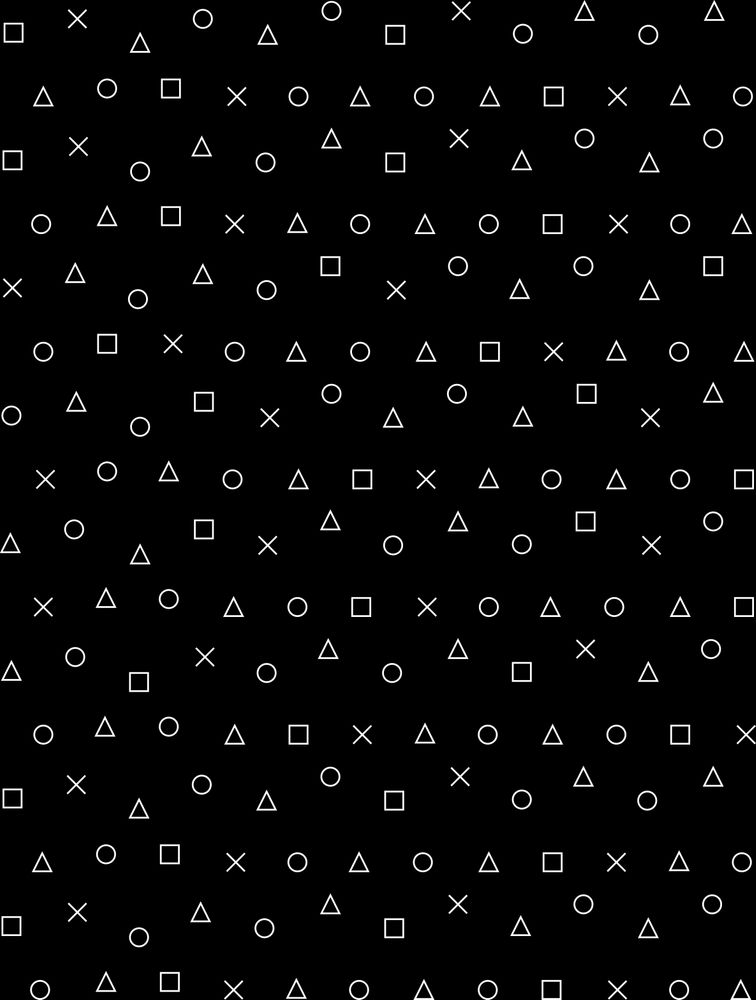 Black Gaming Pattern Gamer Design Playstation Controller Symbols All Over Graphic Tee By Ohaniki Medium Pattern Game Game Design Playstation Controller