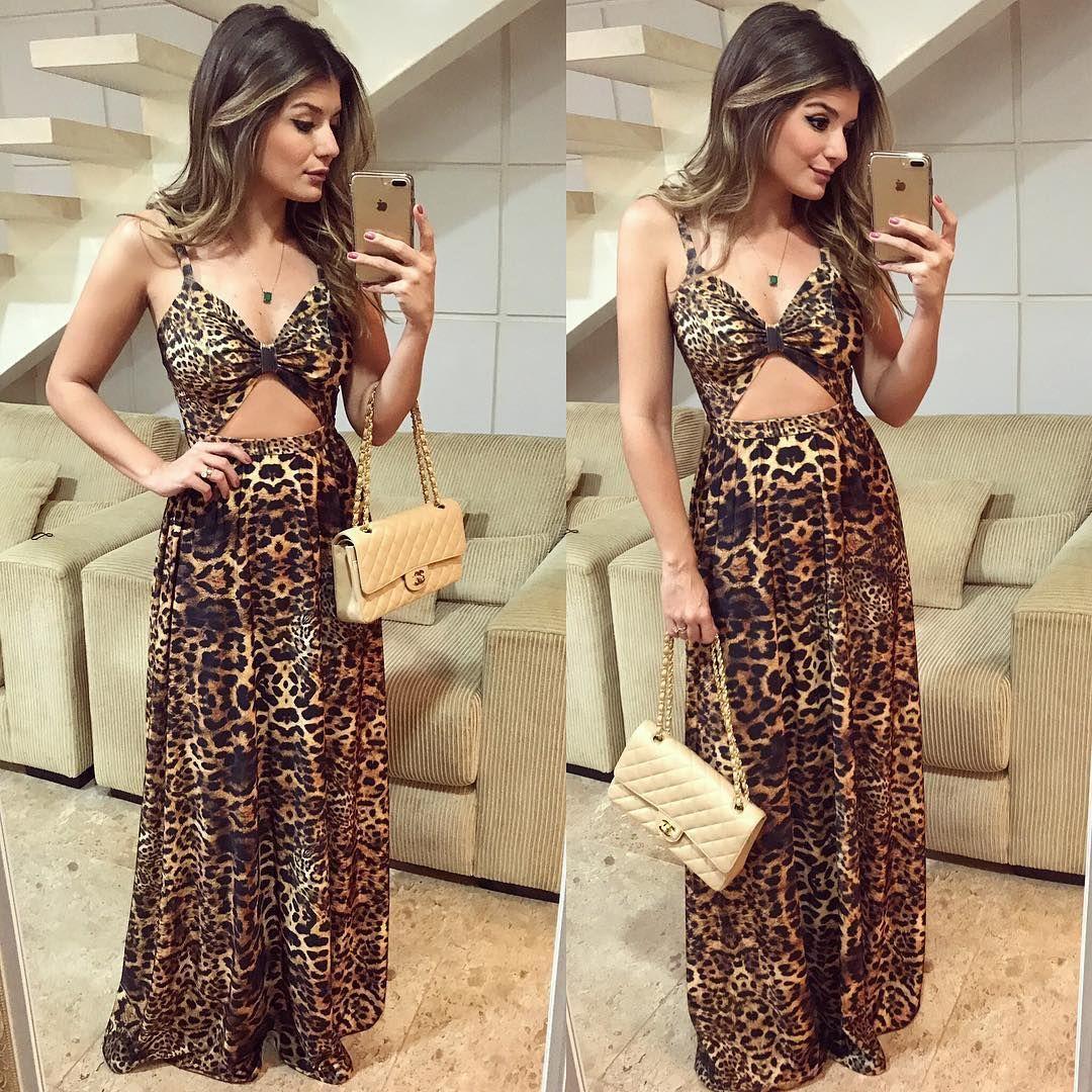 e4d856a0115d Leopard } Vestido @unicas_store Longo de onça divo! ♥   }DRESS ...