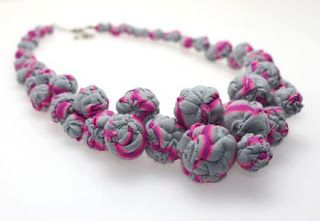 Eco Jewelry from Preloved Clothes and Fabric