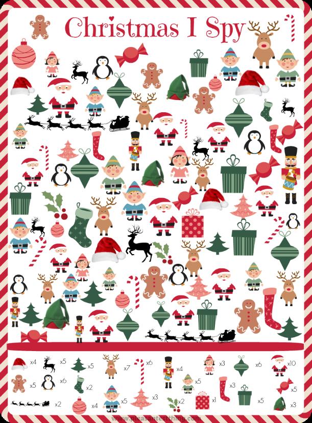Christmas I Spy Game | Spy games, Holiday games and Free printable