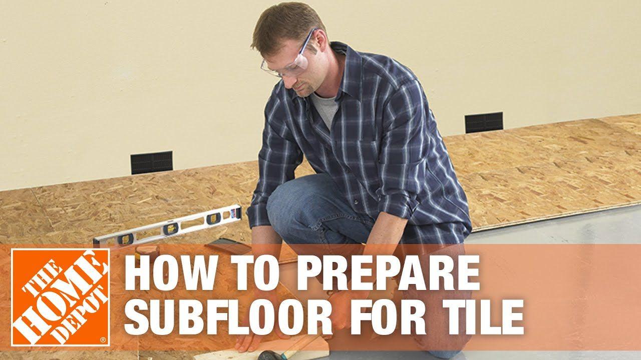 Preparing Subfloor For Tile Youtube Flooring Bathroom Flooring Diy Home Repair