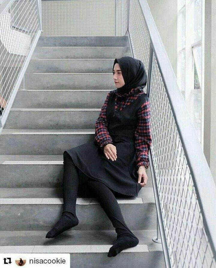Legging Wudhu Bahan Kaos Rib Cotton Best Seller All Size Fit S To Xl And Xxl Wa 085271192808 Line Anafauziahh Gaya Hijab Wanita Legging