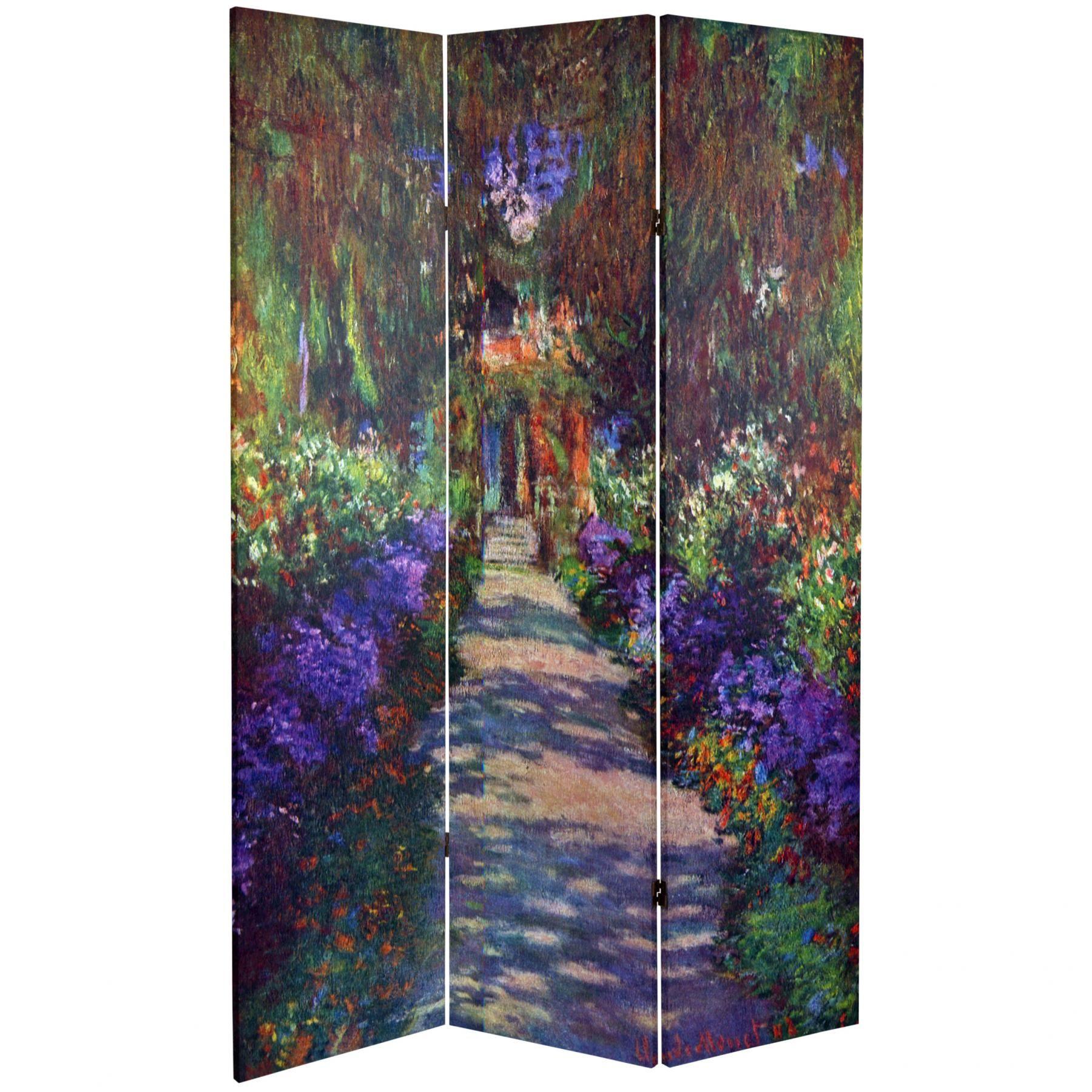 Works of Monet Canvas Room Divider