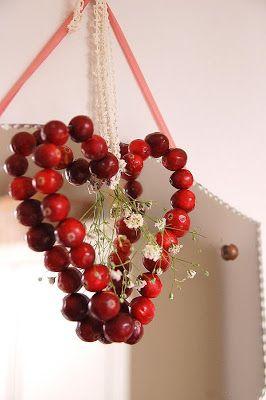 ~ knutselen met cranberries ~