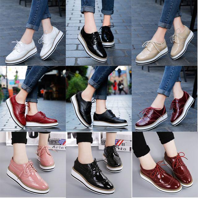 c818f58e EOFK Primavera Plataforma de Las Mujeres Zapatos de Mujer Atan Para ...