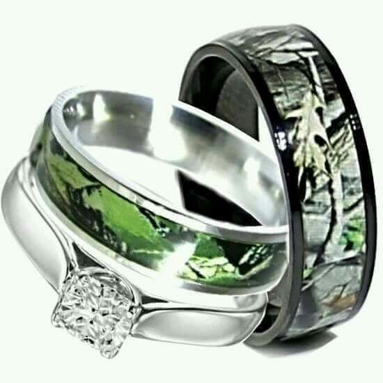 Him And Her Camo Rings Perfect Wedding Pinterest Camo Ring