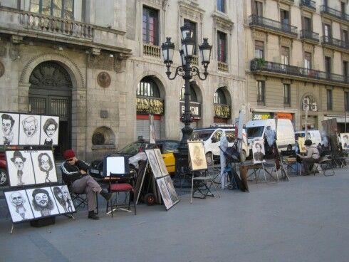 Artistas, las Rambla, Barcelona, España