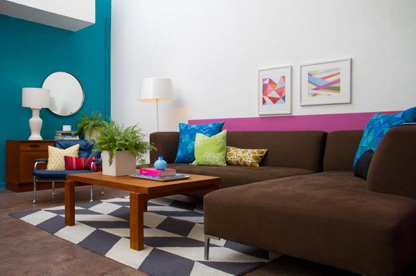 15 interesting combination of brown and blue living rooms women s rh pinterest com au