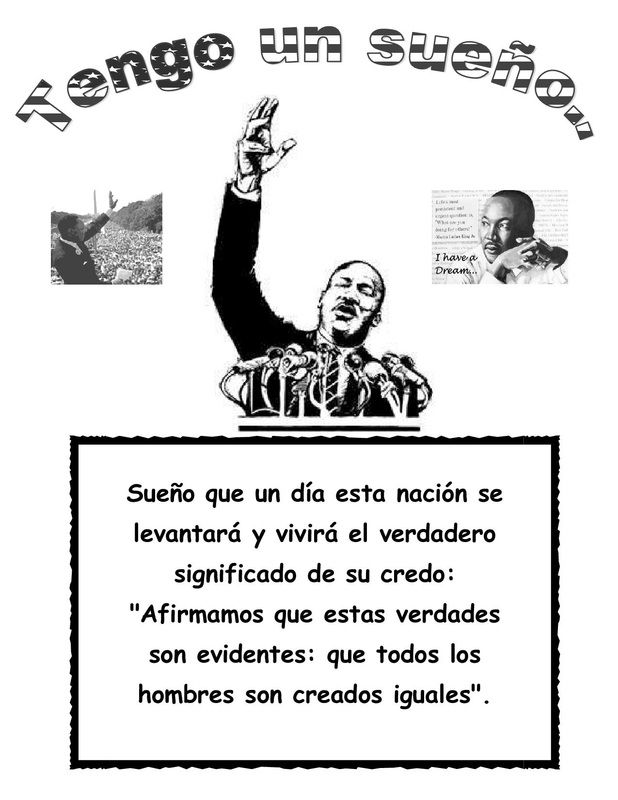 Martin Luther KingS Speech In Spanish  Iteach