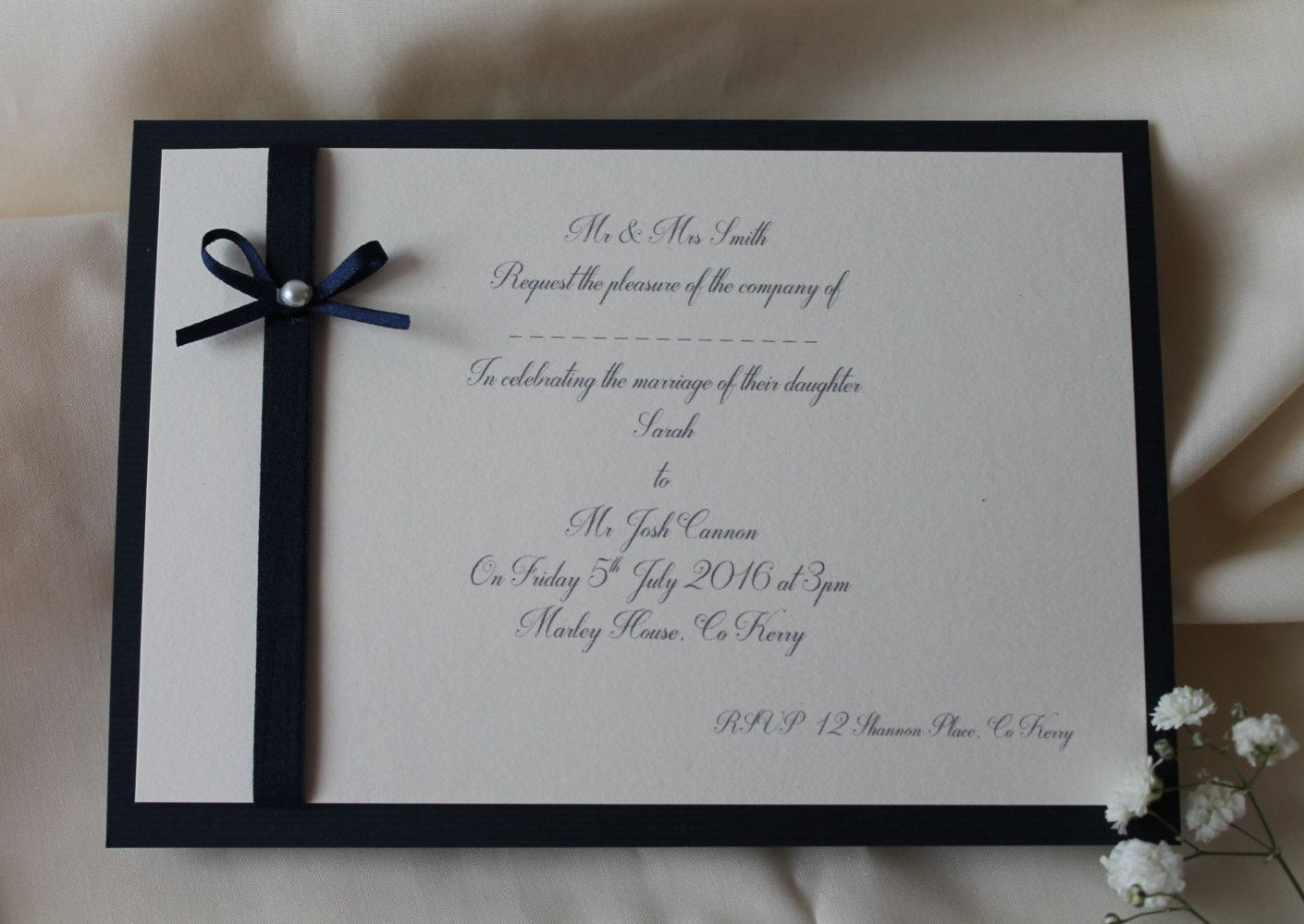 what to include in diy wedding invitations%0A Simple and Elegant Wedding Invitations by Fromthismomentcards on Etsy