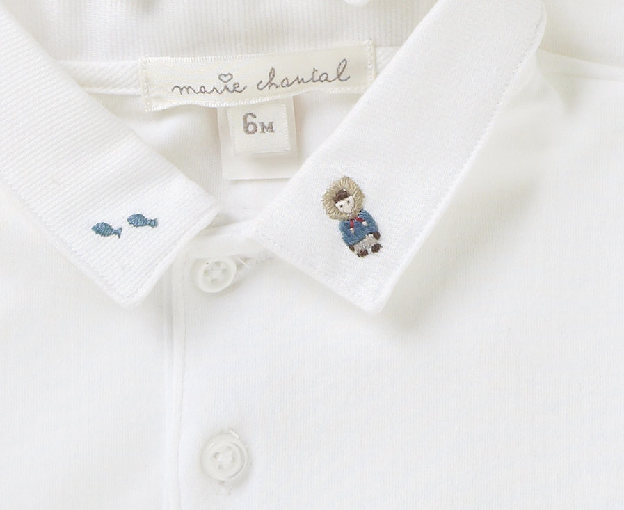 Eskimo Embroidered Onesie #mariechantal #baby #babygifting #onesie
